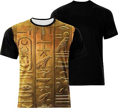 Egyptian Gods Symbols Ancient Writings Signs! Brand New 100% Cotton! Art T-Shirt