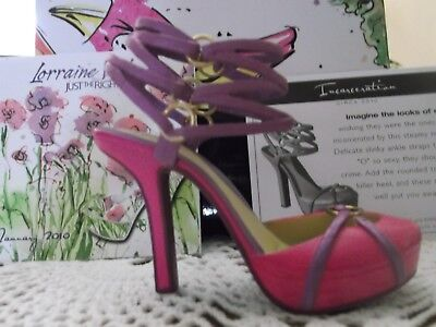 """ Jtrs "" Unquenchable ~ Beautiful Hot Pink Shoe W/ Many Ankle Straps  Nib W/coa"