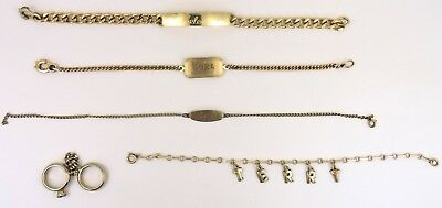 Antique Vintage Lot of Gold Filled Bracelets/Charms NR! 815-06