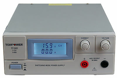 Used TekPower TP1540E DC Adjustable Switching Power Supply 15V 40A