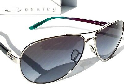 NEW* Oakley FEEDBACK Chrome Gemstone AVIATOR Gradient Womens Sunglass 4079-26