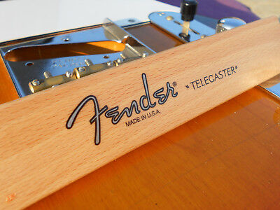 Fender Telecaster Decal USA (Metallic Silver Logo)