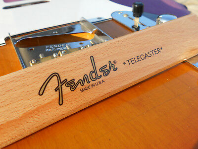 Fender Telecaster Decal USA (Metallic Gold Logo)