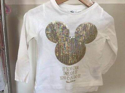 Mickey Mouse Long Sleeved Top Age 18-24 Months