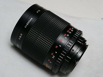 Bower 500mm f/8 Telephoto Mirror Lens For Canon EOS T Mount