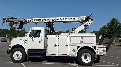 Nice 2001 International 4700 Telsta T40C Cable Placer, Bucket Truck, Must See!!!