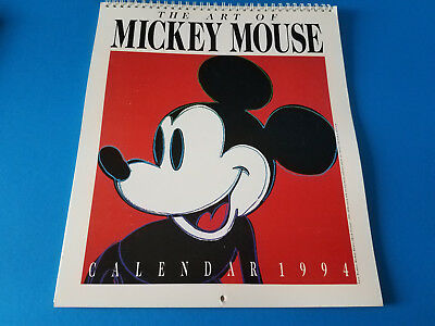 Vintage 1994 The Art of Mickey Mouse Calendar Hyperion