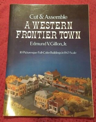 Ho Scale -  Cut And Assemble A Western Frontier Town - 10 Full Color Buildings