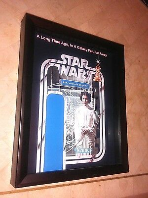 "STAR WARS Princess Leia 8""x10"" Shadow Box for 3.75"" Leia Action Figures"