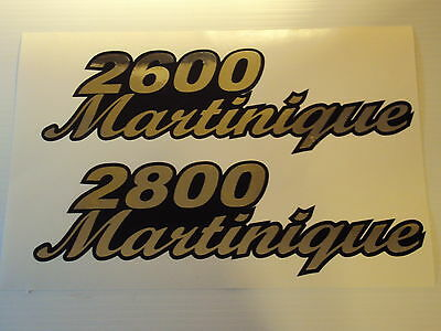 Wellcraft martinique 2400-3600 chrome Marine Vinyl  boat decals This set 2800