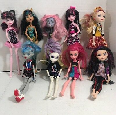 Lot Of Monster High And Ever After High Dolls Large Lot
