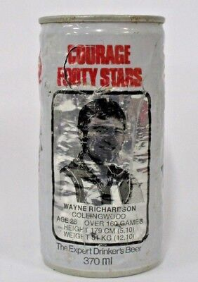 Courage Draught Beer rare Wayne Richardson Collingwood collector Footy Star can