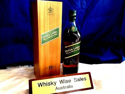 Johnnie Walker Green Label With Timber Case. Rare.