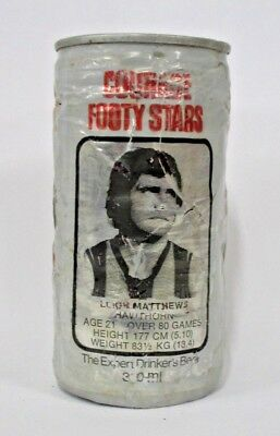 Courage Draught Beer rare Leigh Matthews Hawthorn Hawks collector Footy Star can