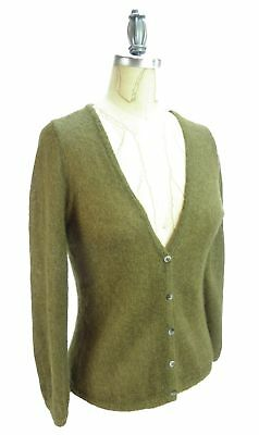 Boden Mohair Wool Cardigan Sweater US Size 8 UK Size 12 Loden Green Brown