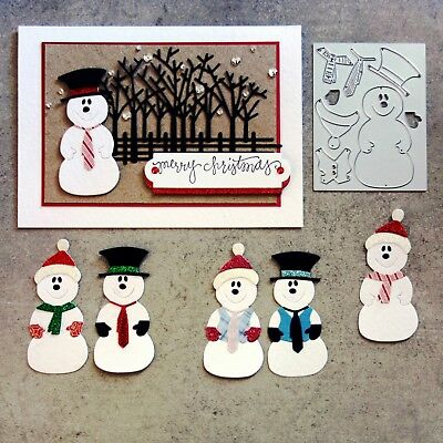 Shopaperartz SNOWMAN CHRISTMAS PAPER PIECING TAG CARD CUTTING DIE CARDMAKING