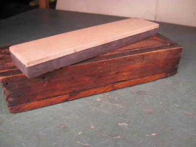 Old Used Vintage Tools Rare Sharpening / Honing Stone Two Tone Like Coticule