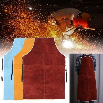 1x Welder Apron Welding Equipment Welder Heat Insulation Protection Cow Leather