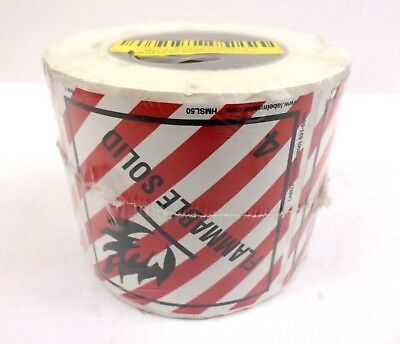 Labelmaster HMSL50 Flammable Solid Label 100mmx100mm - Roll of 500 Labels NOS*