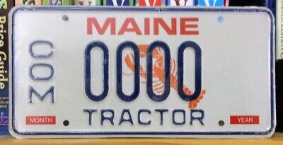 1999 Maine Lobster SAMPLE Tractor License Plate #0000 Unused in Original Plastic