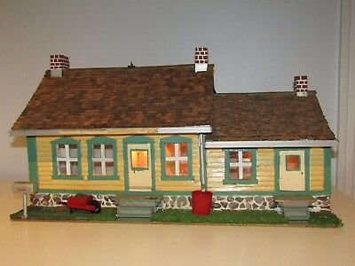 Vintage Wood Folk Art Hand Made; It's a replica of a Canadian Centenary House