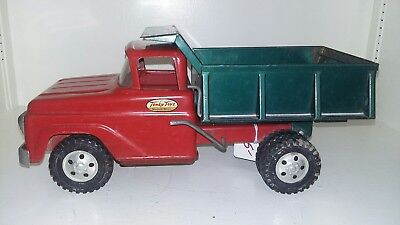 Vintage Late 1950's Early 1960's TONKA Dump Truck All Original ~ Red/Green