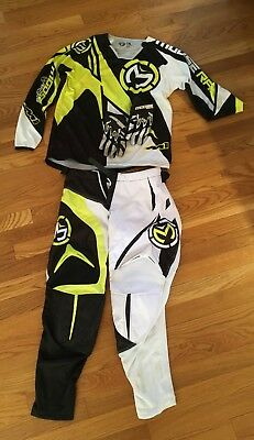 Moose Racing M1 youth riding gear, pants 26, jersey yxl, and gloves.
