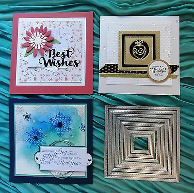 """CLEARANCE"" Shopaperartz STITCHED NESTED SQUARES 8 PCE CUTTING DIES"