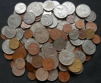 Australia & New Zealand, 1-3/4 Lbs Pile Of Coins