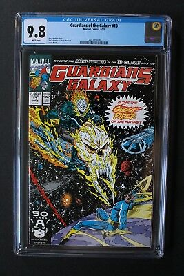 GUARDIANS OF THE GALAXY #13 1st Original COSMIC GHOST RIDER 1991 Thanos CGC 9.8