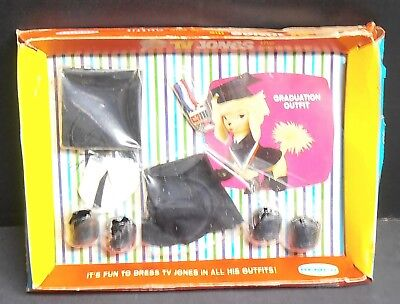 Vintage 1966 TV Jones the Lovable Pup Graduation Outfit by Remco NIP