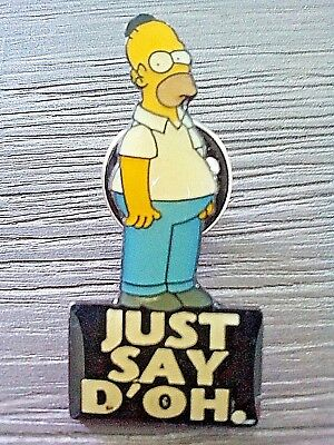 1995 The Simpsons Pin - New - Homer Simpson Just Say D'oh. Pin
