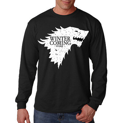 Game Of Thrones Winter Is Coming Stark Wolf Crest Funny Long Sleeve T-Shirt Tee