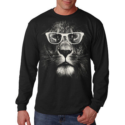 faa4788cd Cool Cat Lion King Of The Jungle Wearing Sunglasses Animal Long Sleeve T -Shirt