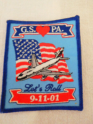 Girl Scouts Love PA  LET'S ROLL 9-11-01  Patch