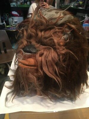 Vintage Star Wars Chewbacca 1977 Don Post Mask Closed Mouth Original Owner Rare