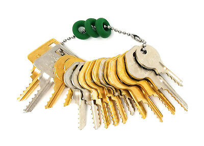 15 Padlock Depth Key Set with Bump Rings