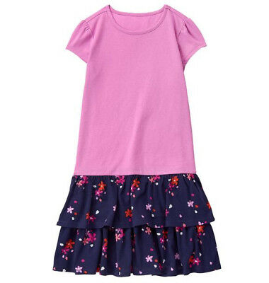NWT Gymboree Girls Everyday Play Wear Two-fer Ruffle Dress Size 10 12