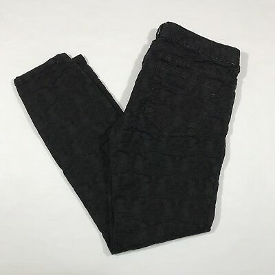 Free People Skinny Jeans Womens 29 Black Textured Stretch Pants
