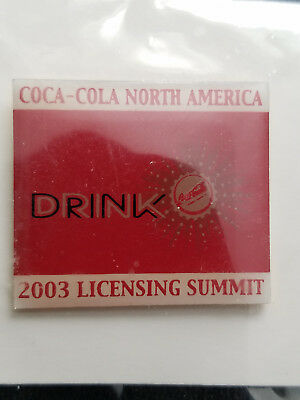Rare Coca-Cola North America 2003 Licensing Summit Lapel Pin NEW In Package