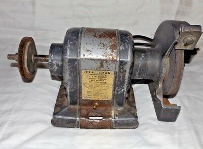 Outstanding Vintage Craftsman Capacitor Start Bench Grinder 7 Inch 1 2 Beatyapartments Chair Design Images Beatyapartmentscom