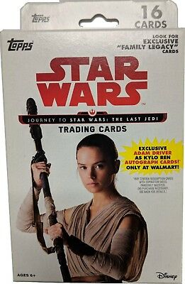 Star Wars Journey to The Last Jedi Hanger Box Topps 2017 STAR WARS TRADING CARDS