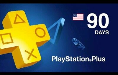 3 Month PlayStation Plus Membership - PS3/ PS4/ PS Vita [Digital Code] US ONLY