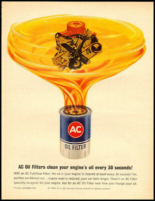 1960s vintage ad for AC Oil Filters -964