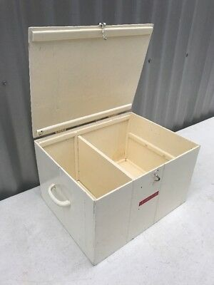 Vintage Industrial Retro Timber First Aid Box Home Medical Storage Coburg Melb