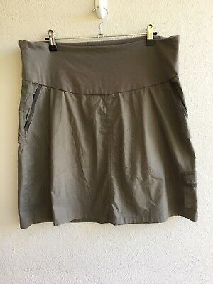 Ninth Moon Maternity Cargo Skirt Size 18 BNWT Cotton Spandex Khaki