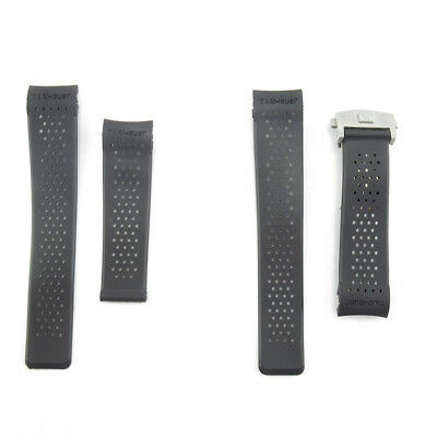 22mm Rubber Black Watch Band Strap For TagHeuer Carrera Watch Replace Parts