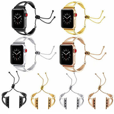 Lady Stainless Steel Wrist Band Bangle Cuff Strap For Apple Watch Series 1/2/3/4