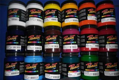 "300ml PERMASET SCREEN PRINTING ""STANDARD"" INK FOR T SHIRTS OR FABRIC"