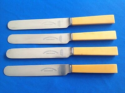 Set Of 4 St/Steel Vintage Or Antique Cutlery, Dearden And Richmond Of Sheffield
